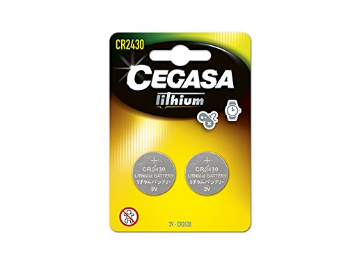 CEGASA CR2430 - Pack 2 Pilas botón Litio, Color Verde