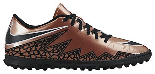 Nike Hypervenom Phade Ii Tf, Scarpe sportive, Uomo, Brown / nero / verde / bianco (MTLC brnz Rd / BLK-Grn GLW-White), 43