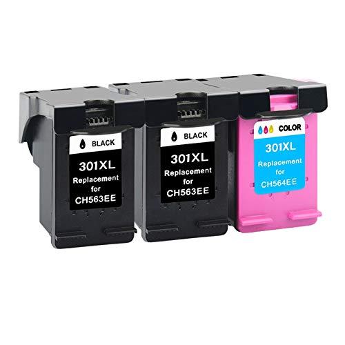 CMDZSW Reemplazo para HP 301 Cartucho de Tinta para HP 301 XL Deskjet 2050 1510 1050 1510 2000 2510 2540 3050A 3054 Impresora para HP301 (Color : 3)