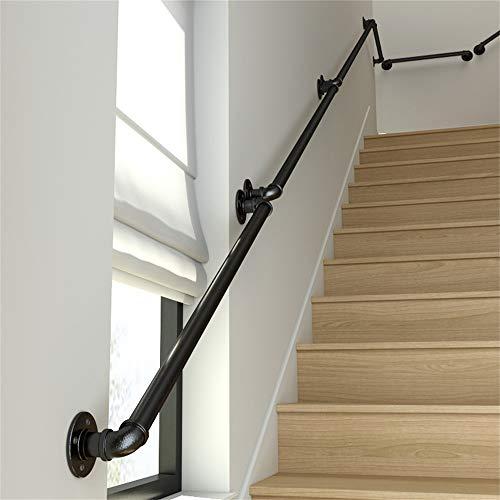 YHYS-階段安全手すり - 屋内と屋外の使用 - 錬鉄製の亜鉛めっき高温塗料 - バー用 - 屋根裏 - ヴィラ - (120cm)