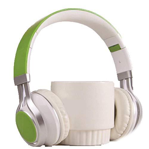 SFBBBO Auriculares Gaming Auriculares con Cable Auriculares estéreo de 3,5 mm con micrófono para iOS Andorid Smart Phone Computer Green