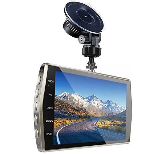 Smart Car Dash CAM Delantero Y Trasero 4'IPS FHD 1080P 2 Lente De La Cámara DVR Auto Night Vision 24H Monitor De Estacionamiento Potable DVRS Dashcam JBCZXJ (Color : No Rear CAM, Size : None)