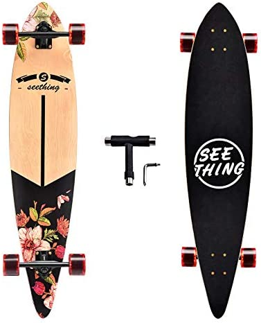 seething 42 Inch Longboard Skateboard Complete Pintail The Original Artisan Maple Skateboard product image
