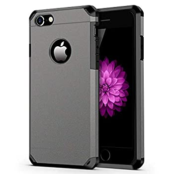 iPhone 7/8 Case ImpactStrong Heavy Duty Dual Layer Protection Cover Heavy Duty Case for Apple iPhone 7/8  Gun Metal