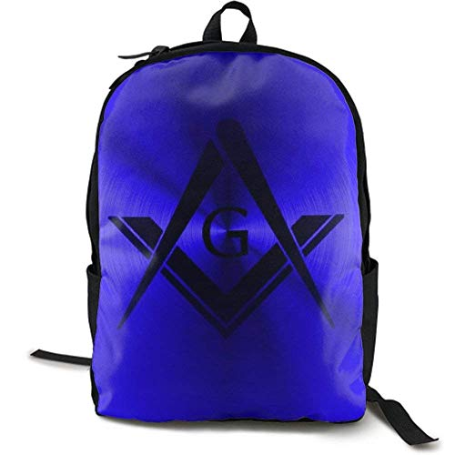 XCNGG Lightweight Durable Backpack Daypack for School Travel Hiking, Freemason Logo