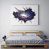 Universo Azul Espacio Exterior Planeta 3D Pegatinas De Pared Universo Agujero Pared Calcomanías Habitación De Los Niños Bebé Dormitorio Techo Suelo Decoración