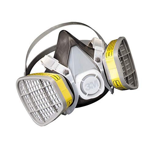 3M Medium Thermoplastic Elastomer Series 5000 Half Mask Organic Vapor/Acid Gas Disposable Air Purifying Respirator