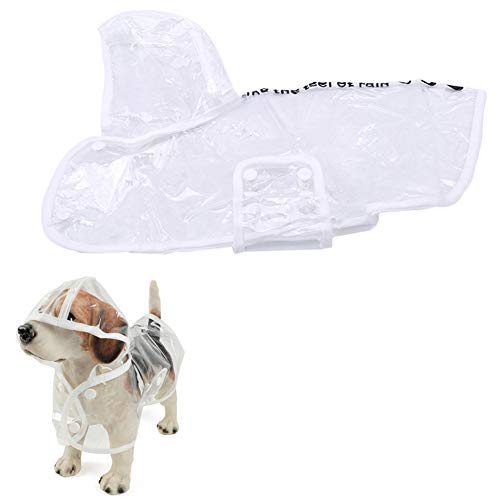 Openg Impermeabile Cane Cappotto Impermeabile per Cani Cappotti per Cani Impermeabili e Caldi Cappottini per Cani di Media Taglia Impermeabili White,XL