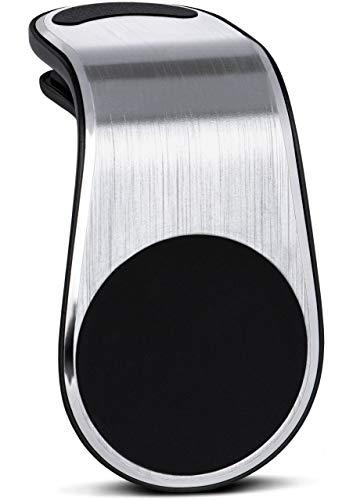 Preisvergleich Produktbild ONEFLOW Premium Magnet Handyhalterung Auto Lüftung für alle DOOGEE Handys / Universal Handy Halterung KFZ Kompakt Ultra Leicht und Sicher - Handyhalter für das Auto Magnetisch,  Silber