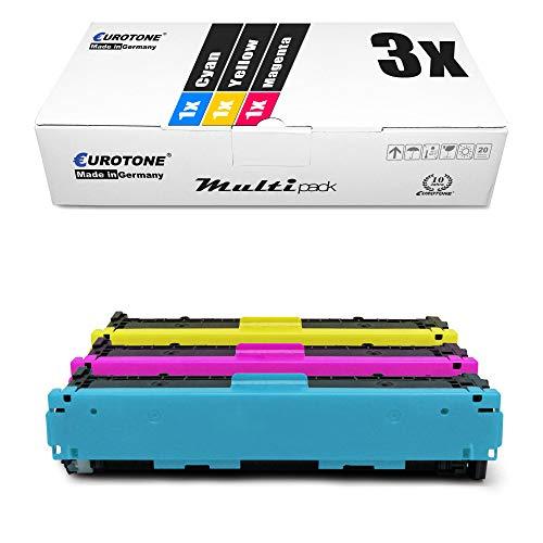 3x Eurotone Toner per Canon I-Sensys LBP 7100 wie 731 CRG-731 Colore 6269B002-6271B002
