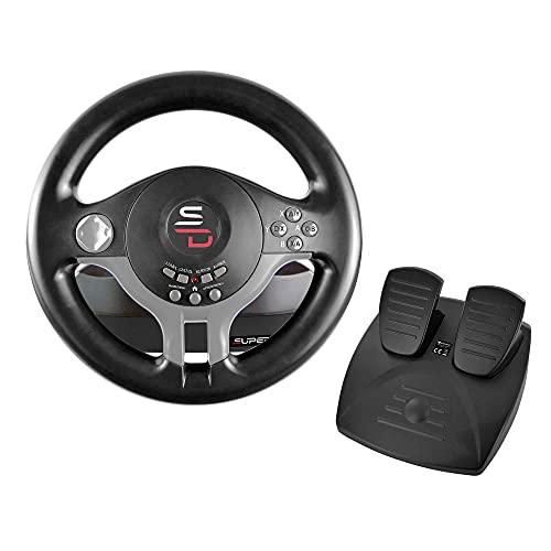 Superdrive - Rennlenkrad / Lenkrad Driving Wheel SV200 mit pedalen und Schaltpaddles für Nintendo Switch - PS4 - Xbox One - PC