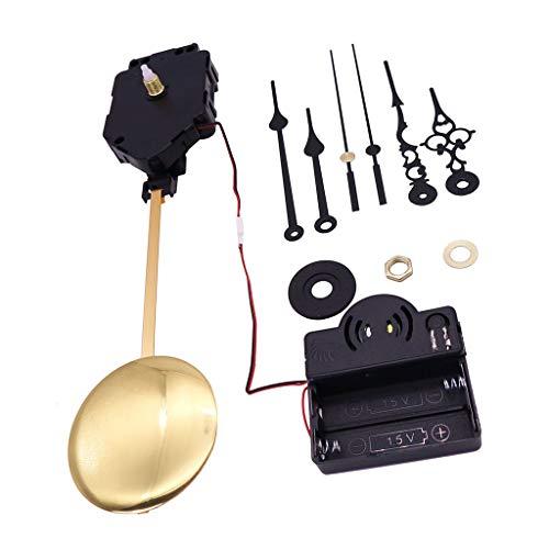 Baoblaze Reloj De Péndulo De Cuarzo De Pared Mecanismo De Movimiento Caja De Música Kit De Bricolaje para Reparar Reemplazo