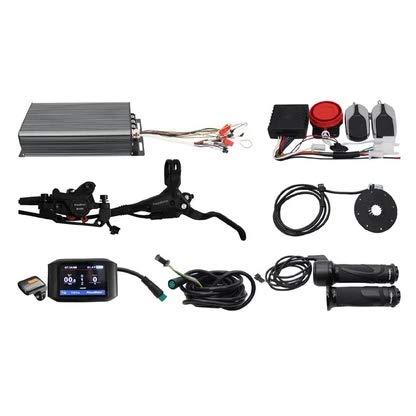 HalloMotor Ebike Electric Bike 48V 3300W/60V 4200W/72V 5000W 100A Programmable Intelligent Control System Kits