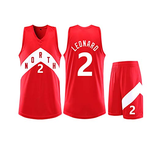 Kawhi Leonard 2 Toronto Raptors Basketball Jersey heren kinderen, basketbal uniform pak mannen mouwloos vest student training uniform 3XS-5XL