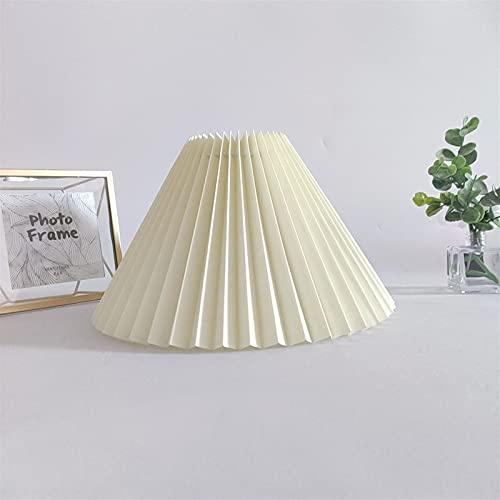 IVNGRI Lámpara de Mesa Plisada Sombra de Tela Creativa de la lámpara de pie de Sombra Moderna Moderna Moda Bricolaje Lámpara nórdica Sombra (Body Color : Beige, Color : Diameter 44cm)