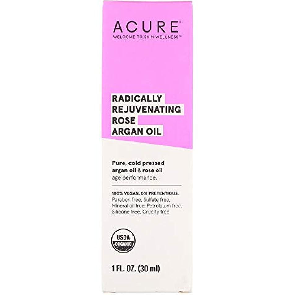 フルーティー完璧な勘違いするAcure Organics, Radically Rejuvenating, Rose Argan Oil, 1 fl oz ローズアルガンオイル (30 ml) [並行輸入品]
