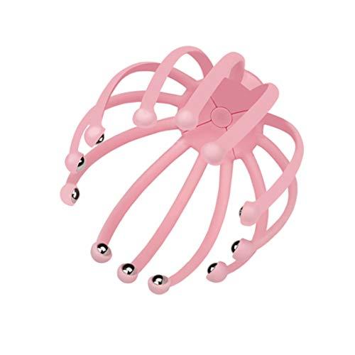 Dacgua ツボヘッド 頭リフレッシャー ツボ刺激 ツボ押しグッズ リラックス 頭部マッサージ 乾湿両用 (ピンク)