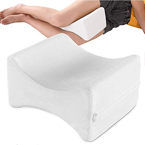 AquaBlue Contour Leg Pillow – Deluxe Orthopaedic Memory Foam Natural Pressure Relief Knee Cushion with Removeable Washable