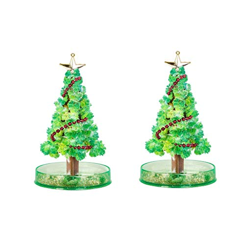 2 PCS Magic Growing Christmas Tree, Tavars Kids DIY Felt Halloween Decorations Tree/Xmas Ornaments/Wall Hanging Gifts for Kids Funny Educational/Party Toys, US Stock (2 Set Tree)