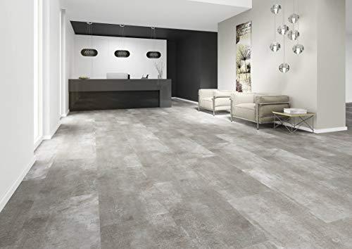 JOKA Hochwertiger Vinylboden/Designboden Klebevariante, Design 555 Nr.: 5444 Grey Screed im Paket = 3,76qm