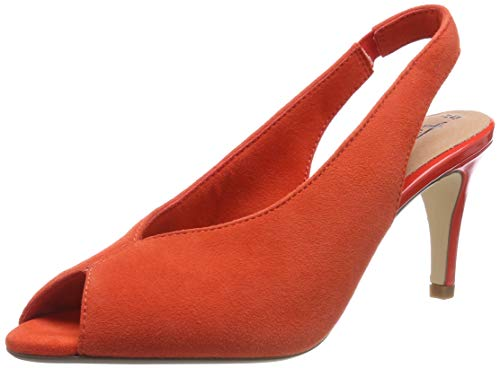 Tamaris Damen 1-1-29614-32 606 Slingback Ballerinas Orange (Orange 606), 41 EU