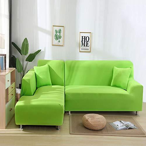 NOBCE Funda de sofá elástica Fundas elásticas Funda de sofá Todo Incluido para Diferentes Formas Sofá Silla Funda de sofá Estilo L Fruta Verde 190-230CM