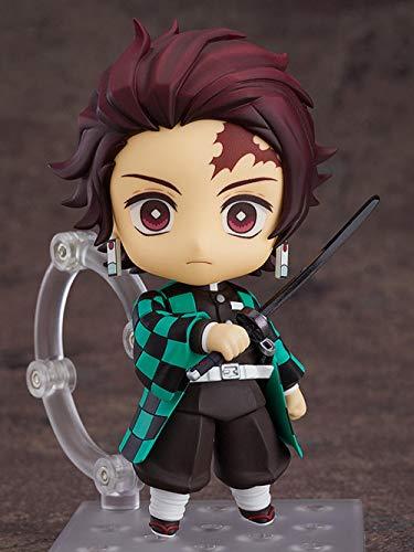 BIOAOUA Mini Personaje de Anime Figura PVC Modelo muñeca versión Q Nendoroid Tanjiro Cara móvil muñeca Caja 10CM