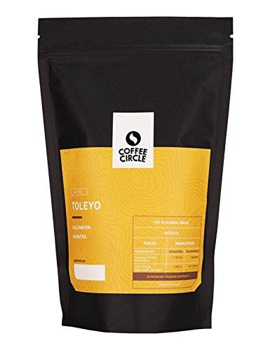 Coffee Circle | Premium Kaffee Toleyo | 1kg ganze Bohne | Würziger Bohnenkaffee mit wenig Säure | 100% Arabica Blend | fair & direkt gehandelt | frisch & schonend geröstet