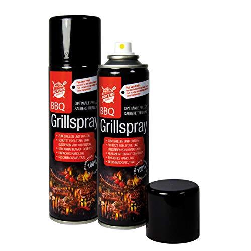 Boyens BBQ-Grillspray (2 Dosen) zum Grillen und Braten Pflegespray für Edelstahl und Gußeisen 200ml Dose Grillspray Trennspray Trennfett Trennmittel