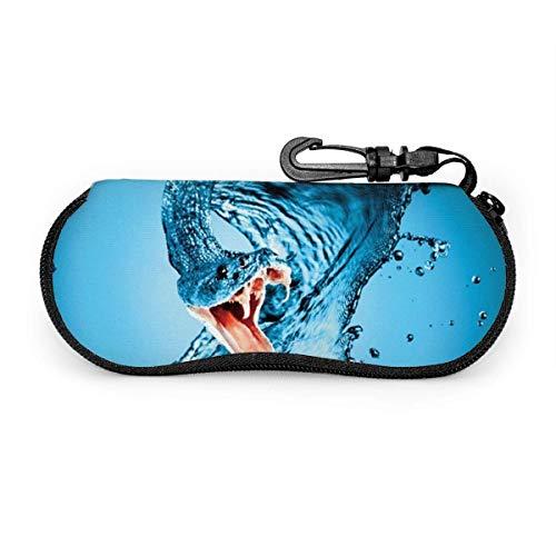 Lunettes de soleil serpents d'eau avec boucle de verrouillage sac souple étui à lunettes en tissu de plongée ultra léger