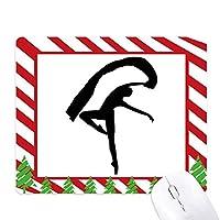 ジャンプのダンサーアートスポーツ ゴムクリスマスキャンディマウスパッド