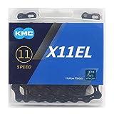 KMC X11EL ブラック BLACK Tech チェーン 11スピード/11s/11速 118Links [並行輸入品]