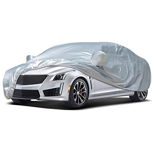 Audew Car Cover Sedan Cover 2019 Upgrade UV Protection/Waterproof/Windproof/Dustproof/Scratch Resistant Outdoor Full Car Covers