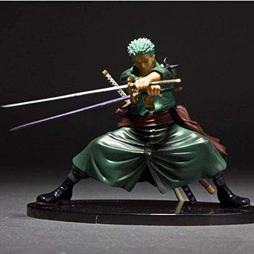 One Piece Due Anni più Tardi Roronoa Zoro Tre Spade Flusso Anime Action Figure Character Animation Modello Cartoon character Collection model toy 14CM