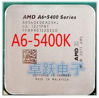 A-Series A6-5400 A6 5400 A6-5400K A6 5400K 3.6Ghz 65W Dual-Core CPU Processor Socket FM2