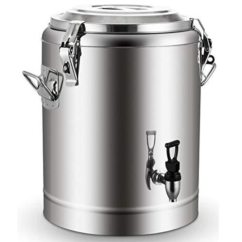 RSTJ-Sjef Isolierter Getränkespender Aus Edelstahl, Thermoskannenbehälter Mit 20-Stunden-Warm- Und Kaltisolierung Mit Zapfen - Für Tee, Wasser, Kaffee, Eisgetränke,10L