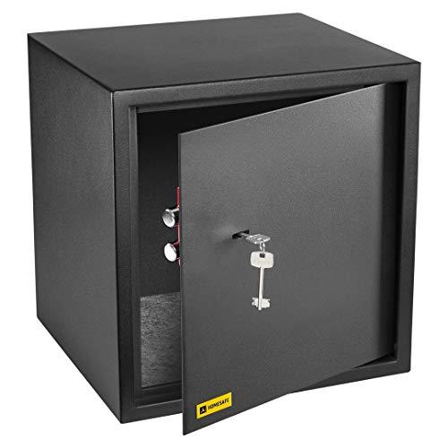 HomeSafe HV38K Caja fuerte con Cerradura de Calidad 38x35x35cm (HxWxD), Negro Satén de Carbón