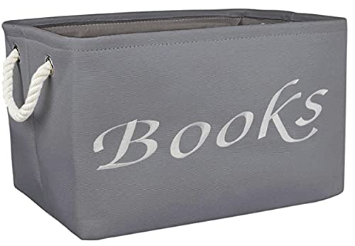 Modern Designs Pro Embroidered Tote Bin - Storage Basket for Nursery - Large Storage Box - Organizing Bedroom, Closet, Classroom (Book Bin)