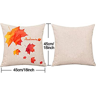 Whaline 4 Pieces Autumn Pillow Case