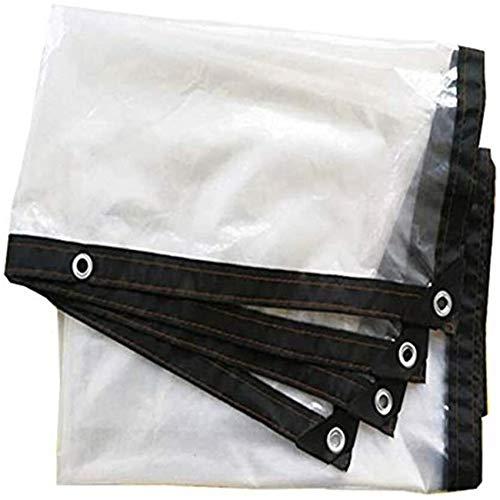 ZHANGQIANG-yubu Transparent Garden Tarp Waterproof Anti Freeze Film Waterproof Rainproof Insulation Awning PE Plastic Cover(Size:5x5M)