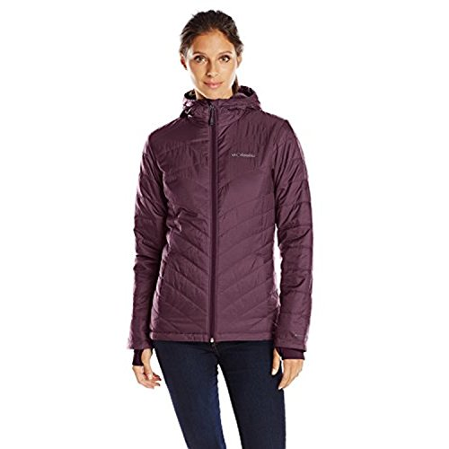 Columbia Women's Mighty Lite Hooded Plush Jacket, Dusty Purple, Small