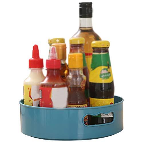 Organizador de Armario Giratorio, Multifuncional para Almacenamiento de Cocina para Tarros de Especias Botellas, Soporte Giratorio para Condimentos, Estantes de Almacenamiento Antideslizantes (A)