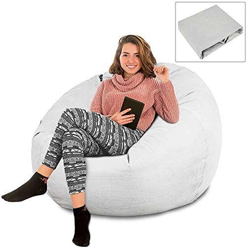 Feesiluu Funda para sofá de puf, grande, con respaldo alto, para tumbona, relajante, sin relleno, para casa, jardín, sala de estar (mediano)