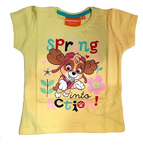 Paw Patrol Mädchen Kurzarm T-Shirt (98, Gelb)