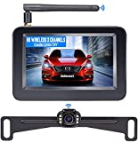 HD Wireless Backup Camera with 4.3 Inch TFT Monitor Kit, Stable Signal Transmission Rear/Front View Camera for Cars,Minivans,SUVs,UTVs - V11