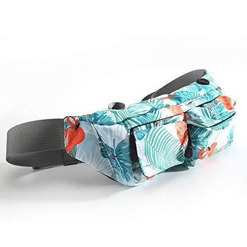 Vlook 3Pcs Paquete de Bolsa de Cintura Resistente al Agua, Bolso de Nylon para teléfono, con Conector para Auriculares, cómodo y Transpirable, para Caminar Senderismo Escalada