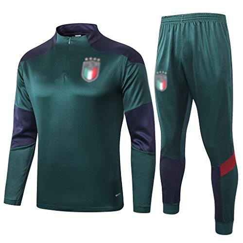 YWYU 60. Jahrestag!Italien Football Club Fußball-Trainingsanzug Herren Grün Breath Langarm-Kapuzenshirt Top + Pants Fan Special Edition-SPM-B1311 (Color : Green, Size : M)