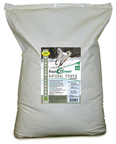 cdVet Naturprodukte EquiGreen Natural Power ohne Hafer Wintermischung 20 kg - Pferd - Ergänzungsfuttermittel - Kraftfutter - Immunsystem + Atemwege - verbesserte Gesundheit + Leistungsfähigkeit -