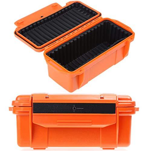 ZffXH Utomhus stötsäker förvaringsbox vattentät tryck överlevnad fodral lufttät — orange