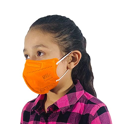 M95c Disposable 5-Layer Efficiency Protective Kids Face Mask Breathable Material and Comfortable Earloop Made in USA 5 Units